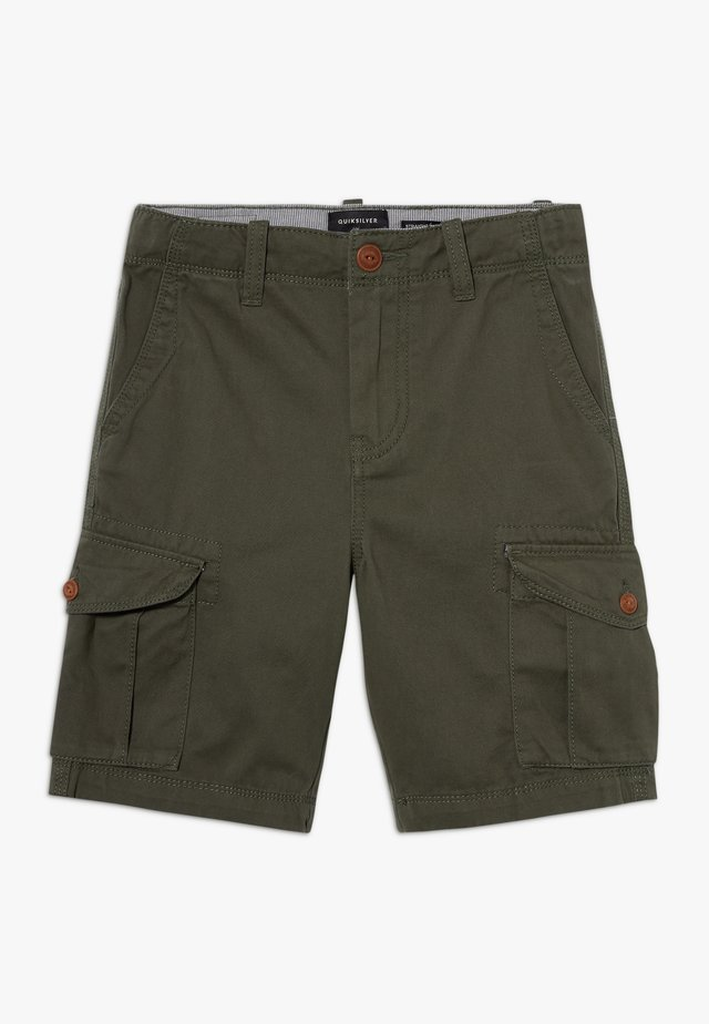CRUCIAL BATTLE YOUTH - Pantaloni cargo - thyme