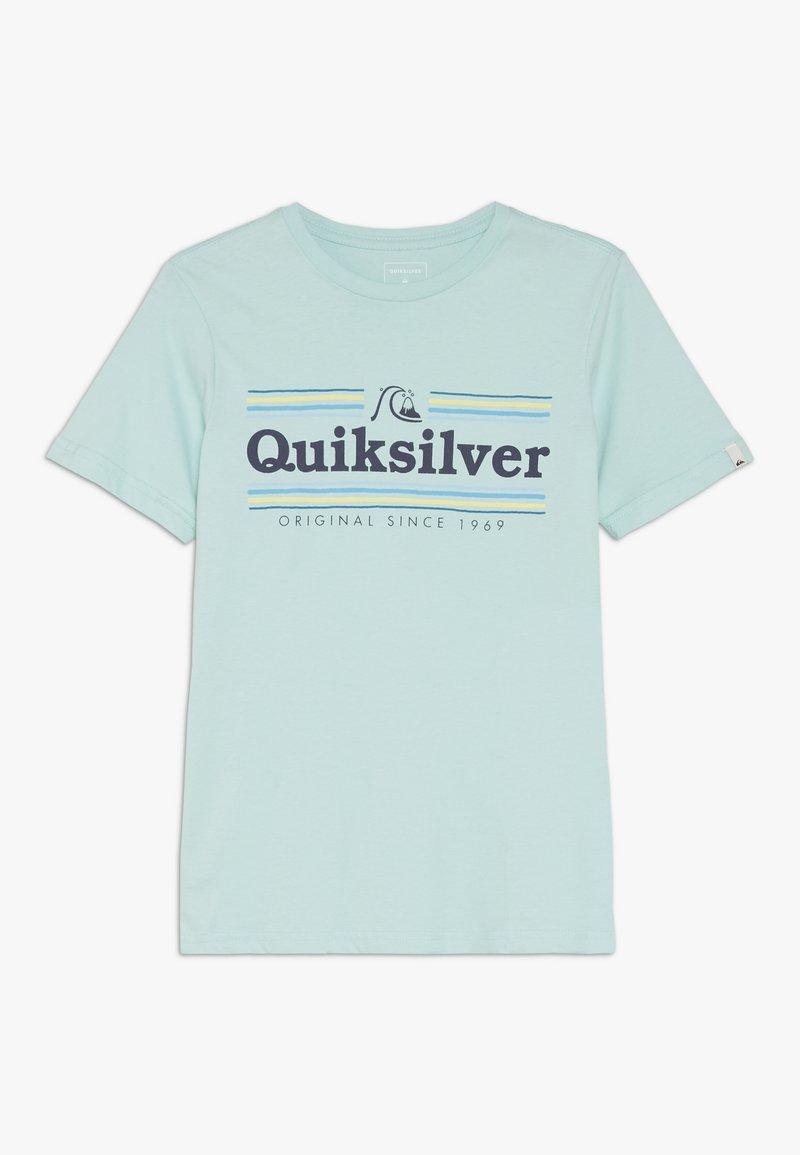 Quiksilver - GET BUZZY  - Print T-shirt - pastel turquoise