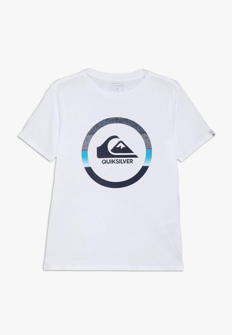 Quiksilver - SNAKE DREAMS  - Print T-shirt - white