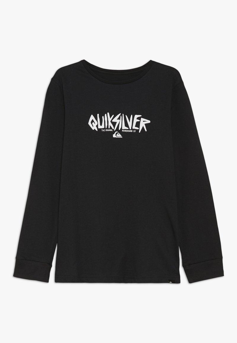Quiksilver - ROUGH TYPE RETHIN  - T-shirt à manches longues - black