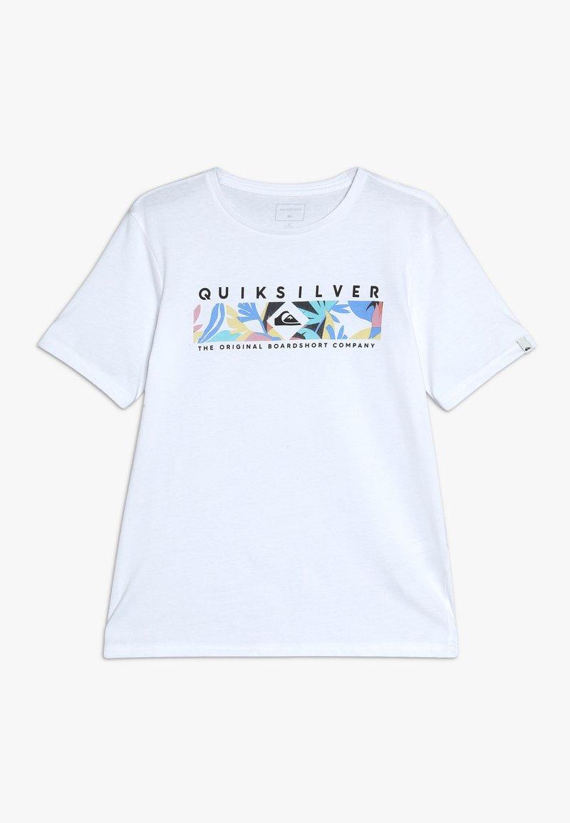 Quiksilver - DISTANT FORTUNE - T-shirt imprimé - white