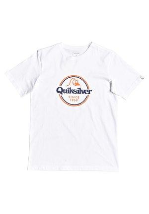 WORDS REMAIN - T-shirt imprimé - white