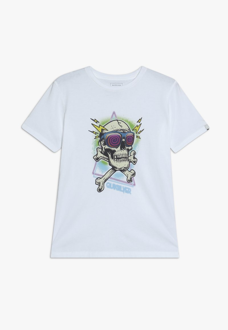 Quiksilver - HELL REVIVAL - T-shirt con stampa - white