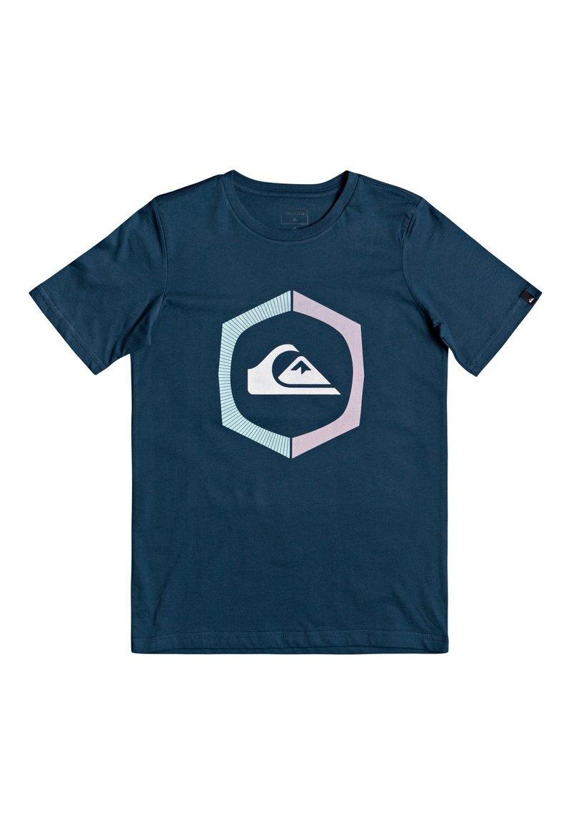 Quiksilver - SURE THING - Print T-shirt - majolica blue