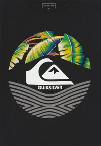 Quiksilver - RETRO STOMPED FLAXTON 2 PACK - T-shirt imprimé - black/white - 4