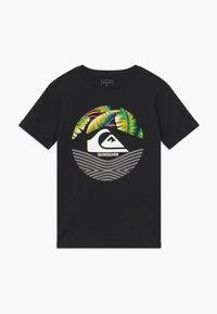 Quiksilver - RETRO STOMPED FLAXTON 2 PACK - T-shirt imprimé - black/white - 2