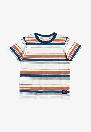 Print T-shirt - redwood