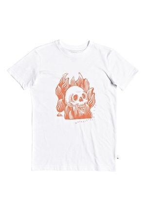 QUIKSILVER™ DRUM FIRE - T-SHIRT FÜR JUNGEN 8-16 EQBZT04168 - T-shirt print - white