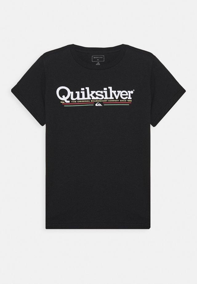 TROPICAL LINES YOUTH - Camiseta estampada - black