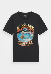 Quiksilver - LOST ALIBI YOUTH - T-shirt con stampa - black - 0