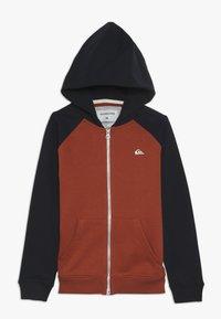 Quiksilver - EVERYDAY ZIP YOUTH - veste en sweat zippée - burnt brick - 0