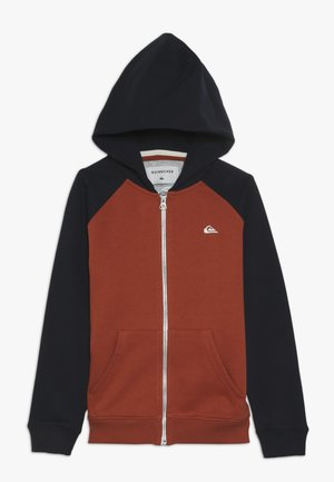 EVERYDAY ZIP YOUTH - veste en sweat zippée - burnt brick