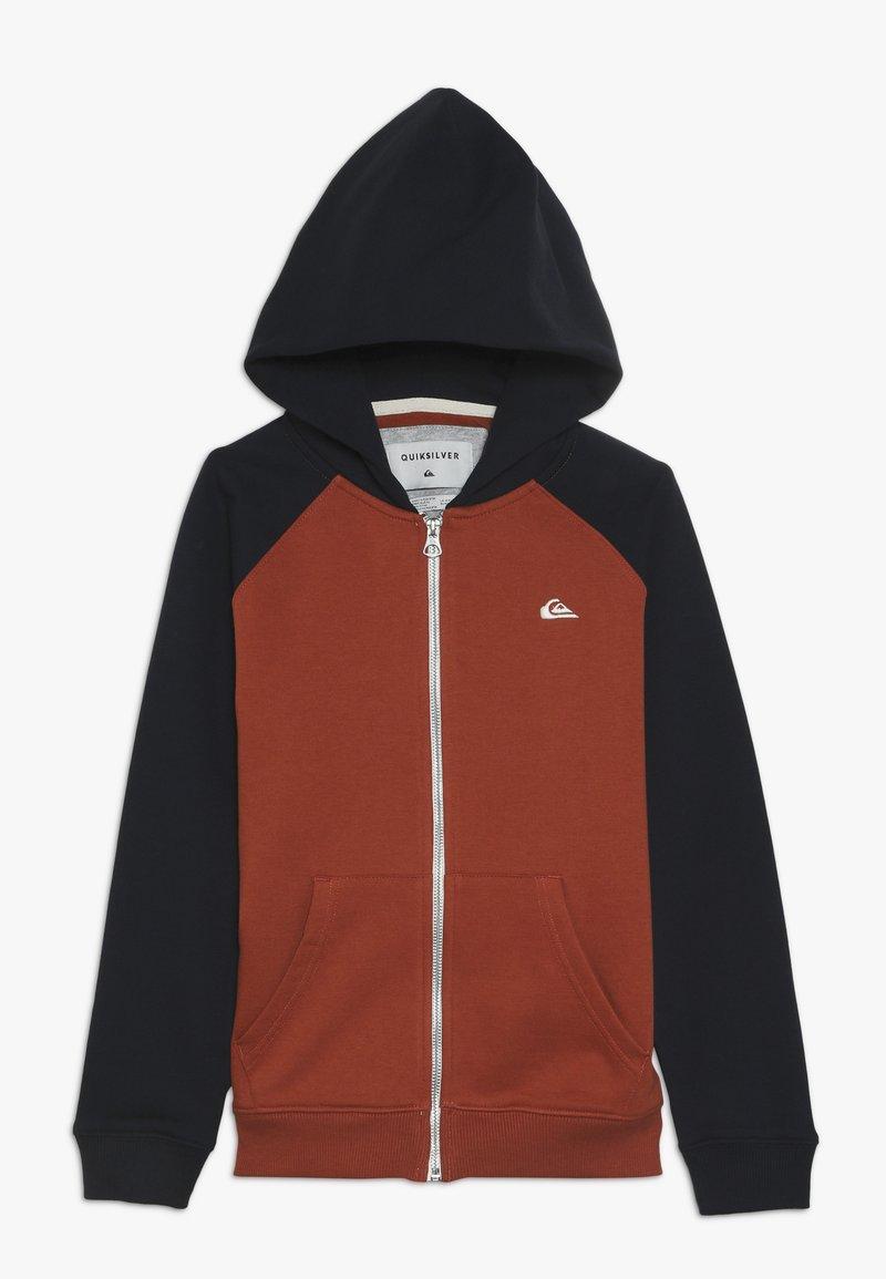 Quiksilver - EVERYDAY ZIP YOUTH - veste en sweat zippée - burnt brick