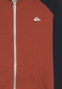 Quiksilver - EVERYDAY ZIP YOUTH - veste en sweat zippée - burnt brick - 4