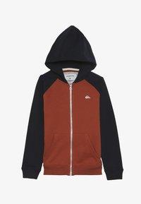 Quiksilver - EVERYDAY ZIP YOUTH - veste en sweat zippée - burnt brick - 3