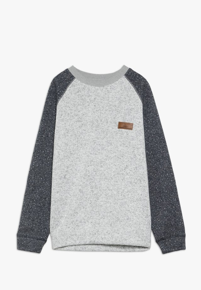 KELLER BLOCK CREW YOUTH - Felpa - light grey heather