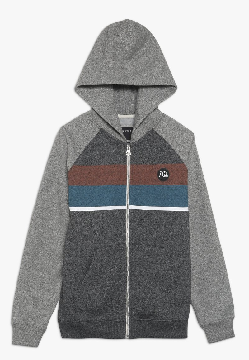 Quiksilver - EVERYDAY ZIP SCREEN YOUTH - veste en sweat zippée - dark grey heather