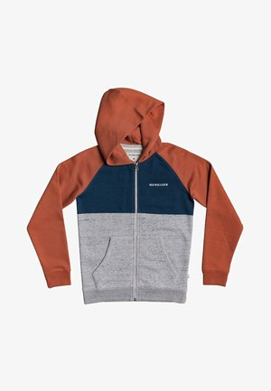 EASY DAY  - veste en sweat zippée - redwood