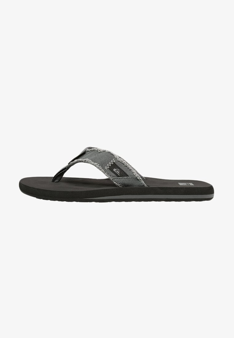 Quiksilver - MONKEY ABYSS  - T-bar sandals - grey/black/brown
