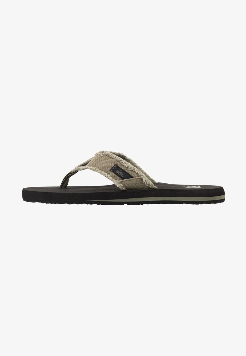 Quiksilver - MONKEY ABYSS - Slippers - green/black/brown