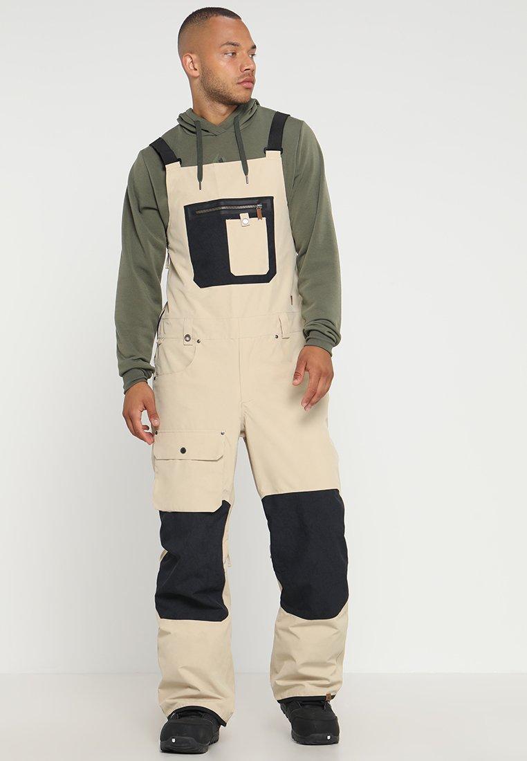 Quiksilver - FOUND BIB  - Zimní kalhoty - beige