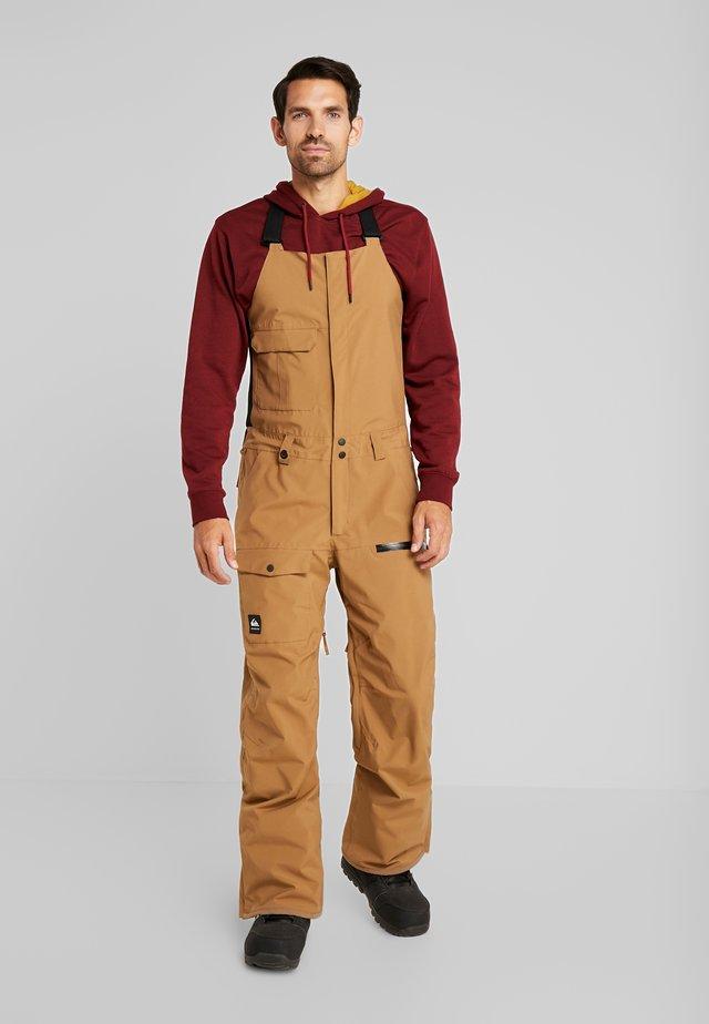 UTILITY BIB - Pantaloni da neve - otter