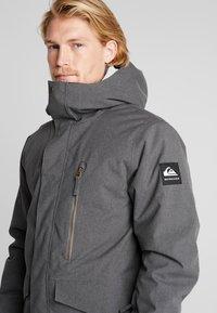 Quiksilver - MISSION - Snowboardjas - black heather - 3