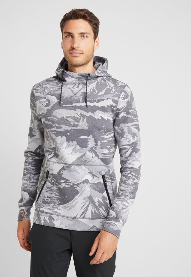 FREEDOM HOODIE  - Felpa con cappuccio - mottled light grey