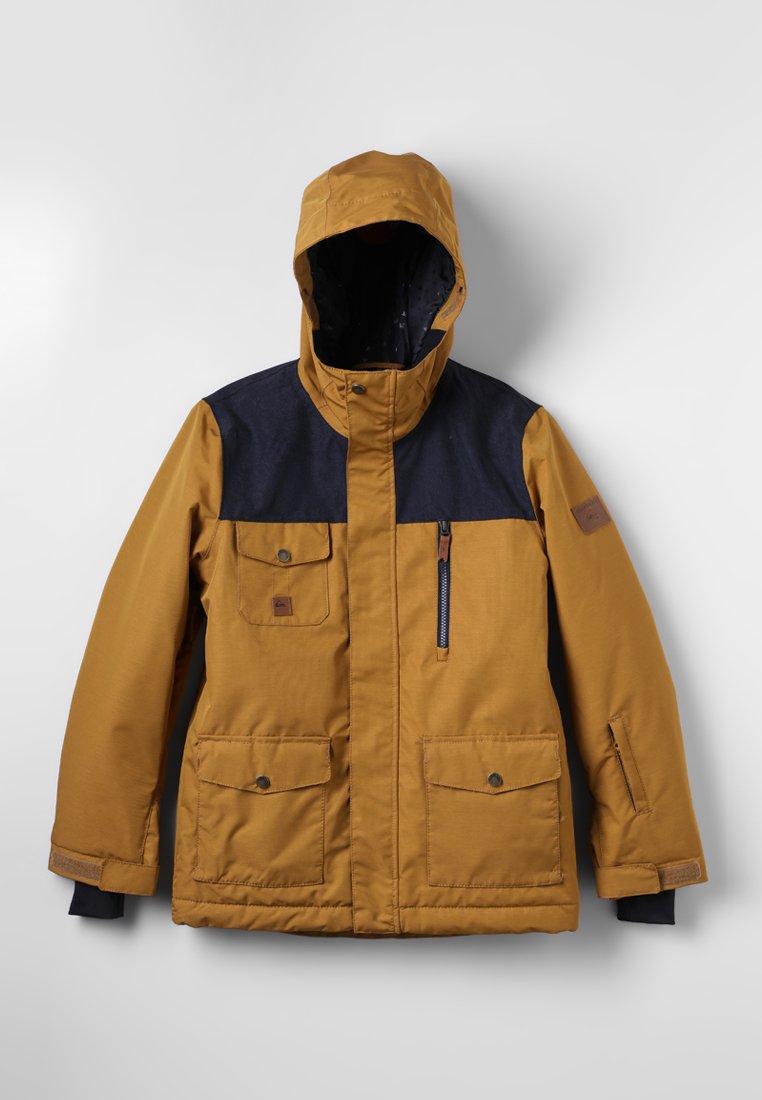 Quiksilver - RAFT YOUTH - Kurtka snowboardowa - golden brown