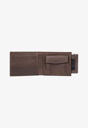 QUIKSILVER™ DEEPLINE - ZWEIFACH FALTBARES LEDER-PORTEMONNAIE MIT - Wallet - chocolate brown