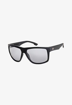 TRANSMISSION - Sunglasses - matte black/flash silver