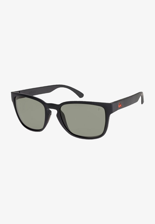 REKIEM POLARISED FLOATABLE - Sunglasses - matte black/green polarized
