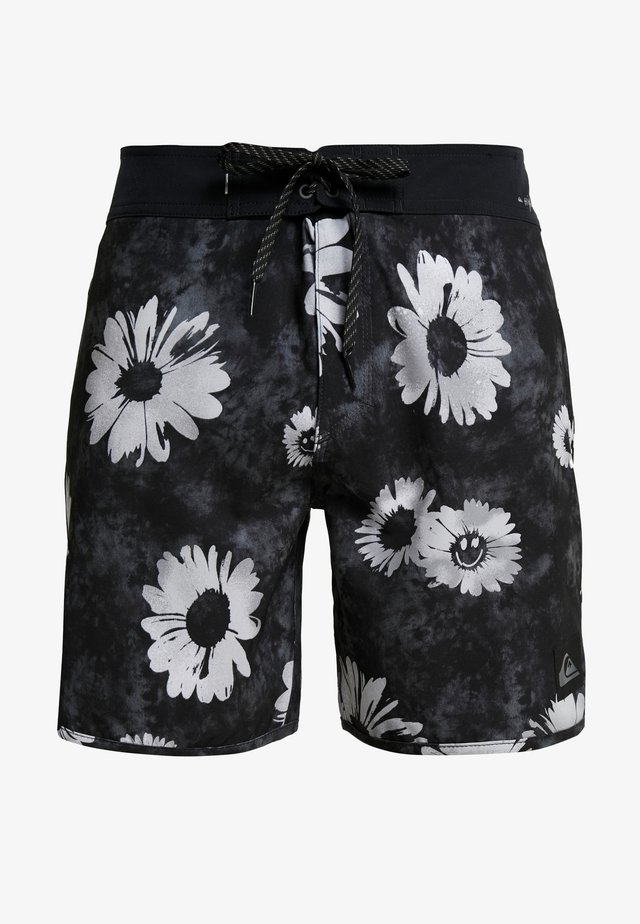 HIGHLINE SPRAYED DAISY - Shorts da mare - black