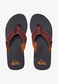 Quiksilver - MOLOKAI ABYSS - T-bar sandals - red/blue/red - 1