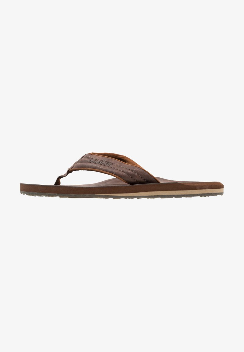 Quiksilver - CARVER - T-bar sandals - demitasse