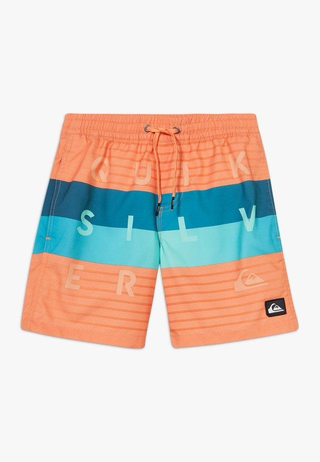 WORD BLOCK VOLLEY YOUTH - Shorts da mare - nectarine