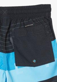 Quiksilver - WORD BLOCK VOLLEY YOUTH - Shorts da mare - black vacancy - 4