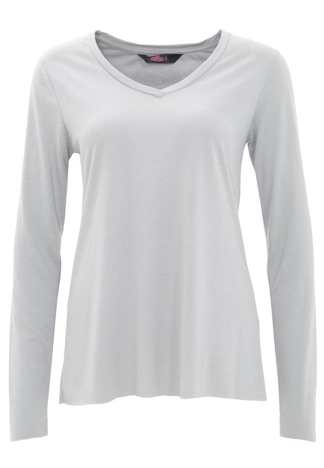 MIT OFFENEN ABSCHLÜ - T-shirt à manches longues - grau