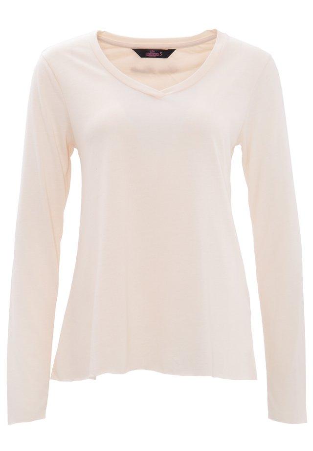 MIT OFFENEN ABSCHLÜ - T-shirt à manches longues - nude