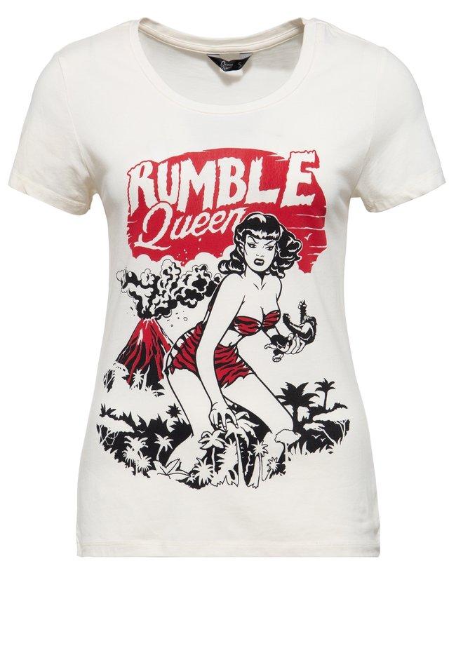 IM VINTAGE LOOK RUMBLE QUEEN - T-shirt imprimé - offwhite