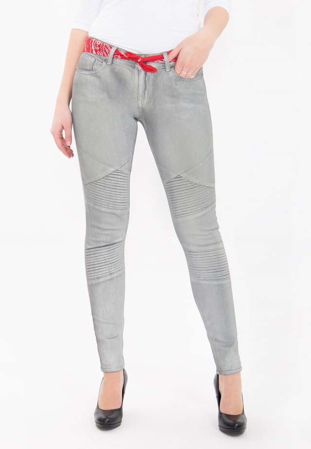 Glanzdruck Holly  - Jeans Skinny Fit - grau