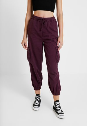 BAGGY RAFF TROUSER - Trousers - plum