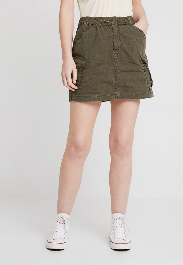 BDG Urban Outfitters - PULL ON UTILITY SKIRT - A-Linien-Rock - khaki