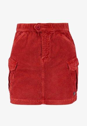 UTLITY SKIRT - Mini skirt - clay