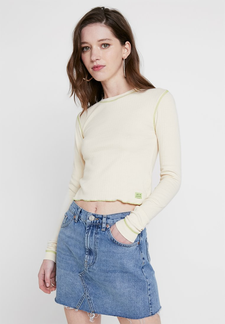 BDG Urban Outfitters - CONTRAST STITCH  - Langarmshirt - ivory