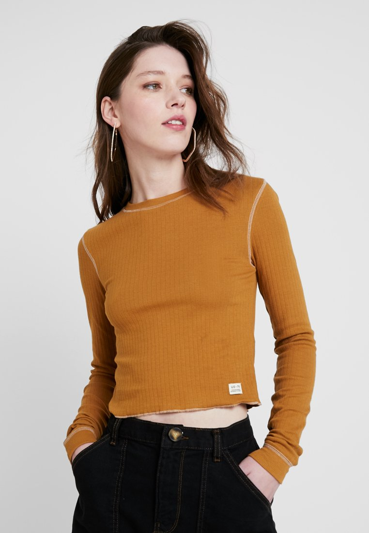 BDG Urban Outfitters - CONTRAST STITCH  - Long sleeved top - beige