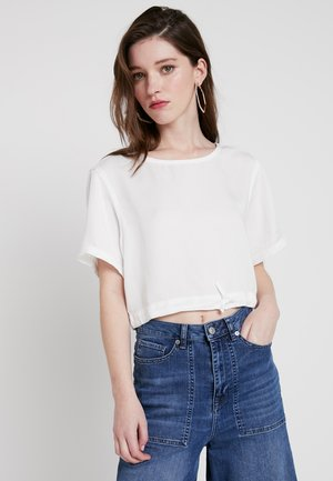 CASUAL DRAWSTRING TEE - Bluser - ivory