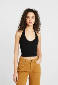 BDG Urban Outfitters - JACKIE SEAMLESS HALTER - Top - black - 0