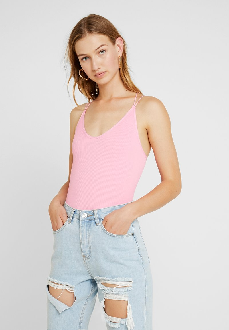 BDG Urban Outfitters - STRAPPY BACK BUNGEE BODY - Top - pink