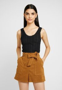 BDG Urban Outfitters - POINTELLE TANK - Top - black - 0